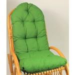 Auflage / Polster für Schaukelstuhl , Liegestuhl , Ersatzpolster Gr. 130 x 50 x 12 cm, Fb. dunkelgrün