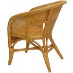 Rattan-Sessel/Stapelsessel Bella in der Farbe Honig, aus Natur-Rattan Flechtsessel Korbsessel