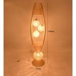 JCRNJSB® Rattan Stehlampe, moderne Einfachheit Nordic Wohnzimmer Schlafzimmer Studie Wärme im japanischen Stil E27 * 4 Dimmbar, kann beleuchtet werden
