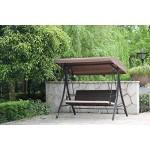Angel Living Outdoor Hollywoodschaukel Gartenschaukel Rattan Schaukel Stuhl 3 Sitz Swinging Hängematte gepolsterten Sitzbank