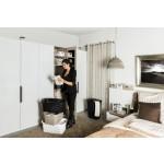"""Sundis Wäschekorb """"Country"""" in weißer Rattan Optik - stabiler Kunststoff Wäschesammler, 40Liter - leichte Wäschetruhe mit guter Belüftung - angenehmes Tragen der Wäschebox - 59 x 39 x 25.2 cm - weiß"""