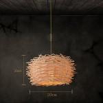 Modern Deckenlampe Kreatives Kronleuchter Restaurant Bar Cafe Rattan Lichter Bambus Vogel Nest Lichter Deckenleuchte Balkon Schlafzimmer ( größe : 30cm )