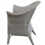 korb.outlet Extra Breiter Rattansessel Natur in der Farbe Weiss - Rattanstuhl Lounge