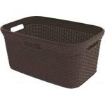 Curver 00708-210-00 Wäschebox Style, 45 L, dunkelbraun