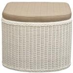 Rattan Wäschekorb / Wäschetruhe in der Farbe Weiss mit gepolsterten Sitz - Versandkostenfrei in DE, Großer heller Wäschesammler/Sitztruhe aus Natur-Rattan auch perfekt als Badhocker/Sitzhocker
