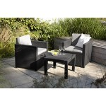 Allibert Balkon-Set Victoria, graphit/cool grey