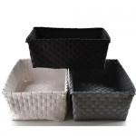 Bada Bing 3er Set Aufbewahrungskorb GROß Ordnungshelfer Deko Box Rattan Optik 3 Farben weiß grau anthrazit 87