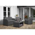 Allibert Lounge-Set Modena 4tlg, graphit/cool grey