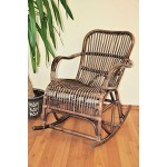 Rattan Schaukelstuhl Rocking Chair Ebony, Korbfarbe Darkbrown