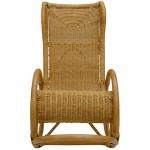 korb.outlet Relaxsessel Schaukelstuhl Luxor aus Rattan in der Farbe Honig/Schaukelsessel modern