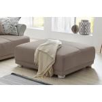 Design Big Sofa PROVENCE Landhauslook mit Vintagecharakter, große Sitzfläche, Armlehnen aus Rattan
