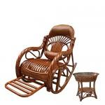 Natürlichen bambus - rattan wicker schwingstuhl set / schaukelstühle suite / schwingsessel satz / gartenliege / gartensessel / sonnenliege / liegestuhl / strandstuhl / relaxliege / lounge sessel / longue / relaxstuhl / relaxsessel / sitz / sitzer / sessel
