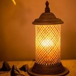 HEIZUNG Rattan Tischlampe Warmes Licht Nachttischlampe Schlafzimmer Hotel, Clubs, Zimmer, Beleuchtung Netzschalter Hoch 33cm Hohe Qualität
