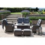 dffu Rattan entspanntes Esstisch Set mit Sofa ST Kitts