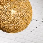 Moderne Pendelleuchte mit Schirm aus Rattam, 1x E27 max. 60W, Rattan / Kunststoff, beige