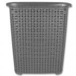 Wäschetruhe - Wäschekiste - Wäschesammler - Wäschekorb Rattan 45L mit Farbauswahl (45L grau)