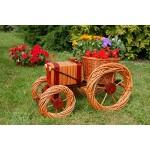 Traktor aus Korbgeflecht, 60cm, Rattan, Weidenkörbe, bepflanzen möglich,Rattan, Weinkörbe, Weidenkorb, Pflanzkorb, Blumentopf, Blumentöpfe, keine Holzschubkarre, Pflanztrog, Pflanzgefäß, Pflanzschale, Blumentopf, Pflanzkasten, Übertopf, Übertöpfe, Pflanzt