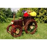 Traktor aus Korbgeflecht (Weide)++Pflanzhilfe, 60 cm, Rattan, Weidenkörbe, bepflanzen möglich, Rattan, Weinkörbe, Weidenkorb, Pflanzkorb, Blumentopf, Blumentöpfe, keine Holzschubkarre, Pflanztrog, Pflanzgefäß, Pflanzschale, Blumentopf, Pflanzkasten, Übert