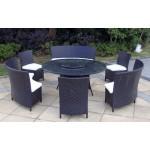Baidani Designer Lounge-Garnitur Timeless, schwarz